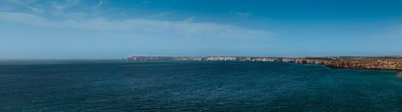 Oceaanmening van Sagres-vesting Royalty-vrije Stock Foto's