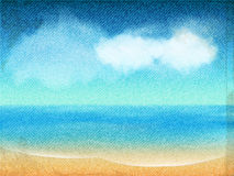 Oceaanmeningscanvas Royalty-vrije Stock Afbeelding