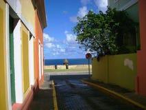 Oceaanmeningssteeg in Puerto Rico stock foto's