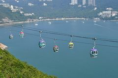Oceaanpark Hong Kong Cable Car Stock Afbeelding