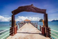 Oceaanpier resort, Thailand Royalty-vrije Stock Foto
