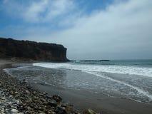 Oceaanscène Long Beach Stock Afbeeldingen