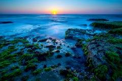 Oceaanstenen in Tel Aviv Stock Foto's