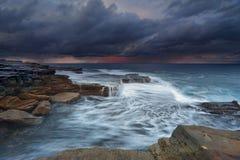 Oceaanstormfront Maroubra Stock Afbeelding