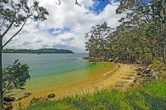 Oceaanstrand op Sunny Day royalty-vrije stock fotografie