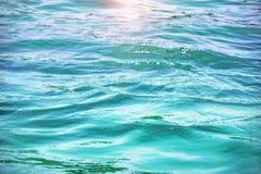 Oceaanwaterachtergrond Royalty-vrije Stock Foto
