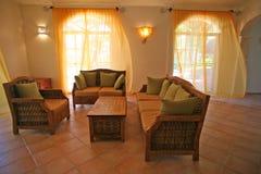 Oceaanwind in villa Royalty-vrije Stock Fotografie
