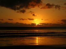 Oceaanzonsopgang Sonnenaufgang Stock Afbeeldingen