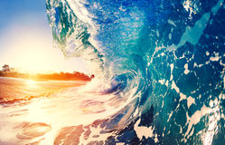 Oceaen Wave at Sunrise Royalty Free Stock Photography