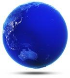 Oceanía y Australia modificadas reflejaron 3d rinden Imagen de archivo libre de regalías