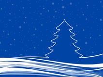 Oceanów boże narodzenia z płatkami śniegu Zdjęcia Stock