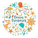 Oceanów skarby Fotografia Royalty Free