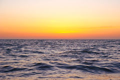 Ocean. The evening sun and the ocean Royalty Free Stock Photography