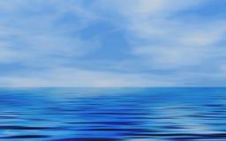 Ocean. And Sky's horizon , blue Stock Photos