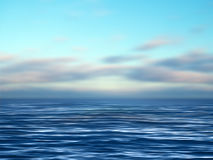 Ocean. An illustration of blue sky and ocean waves royalty free illustration