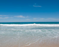 Ocean. Nice view at the open ocean and blue sky Royalty Free Stock Photography