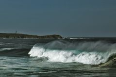 Ocean. Strong storm on the coast of galicia Stock Photography