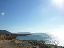 Ocean. Beach with outlook to the ocean Royalty Free Stock Photos