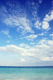 Ocean. Or sea horizon with cloudy sky Royalty Free Stock Image