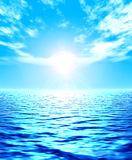 Ocean. Naturalistic illustration of the sea or ocean at quiet weather Royalty Free Stock Photo