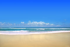 Ocean. View across the ocean with horizon and blue sky royalty free stock images