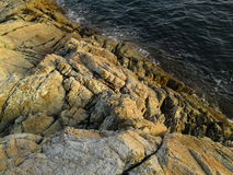 Ocean Against Rocks. Pacific Ocean Against the rocks at Lighthouse Park Stock Photography