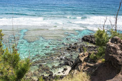 Ocean along Punalao coast, Maui Royalty Free Stock Image