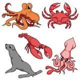 OCEAN ANIMAL PACK CARTOON G1 vector illustration