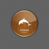 Ocean application icons vector illustration Royalty Free Stock Photography