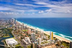 Ocean As Seen From The Gold Coast City Royalty Free Stock Images
