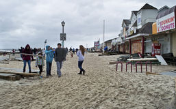 Ocean Ave Belmar Stock Photo