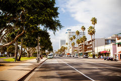 Ocean Ave in Santa Monica Stock Images