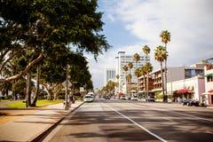 Ocean Ave in Santa Monica Stock Images