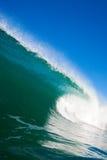 ocean błękitny fala Obrazy Stock