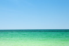 Ocean Background. Tropical ocean background with turquoise water and blue sky Stock Photography