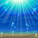 Ocean background with air bubbles Royalty Free Stock Photo