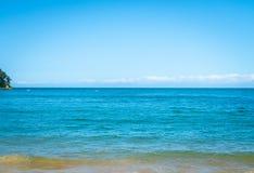 Ocean background Kaiterteri Beach Tasman New Zealand royalty free stock photos