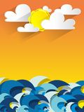 Ocean Background. During A Sunny Day vector illustration royalty free illustration
