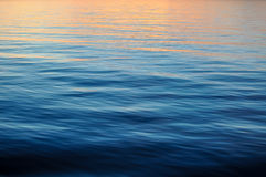 Ocean Background with Sunset Royalty Free Stock Image