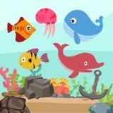 Ocean background vector design vector illustration