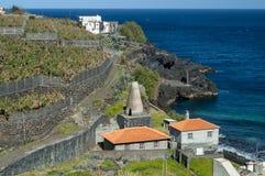 Ocean and banana farm, La Palma, Canary Islands Royalty Free Stock Photography