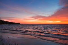 Ocean bay in the dusk Stock Image