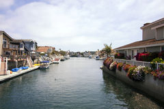 Ocean Bay Harbor Canal Marina Homes Stock Photography