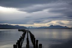 Ocean Bay near Puerto Natales royalty free stock photos