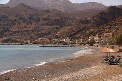 Ocean bay village Tsoutsouros royalty free stock photos