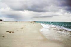 Ocean beach. Landscape with clouds on sky and cean beach Stock Photos