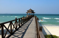Ocean and beach. In sanya of hainan ,china Royalty Free Stock Photo