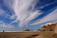Ocean Beach. And cloudy sky, San Francisco Royalty Free Stock Image