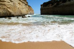 Ocean Beach. An opening from the Beach to the Ocean Stock Photos