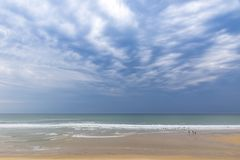 Ocean beach on the Atlantic coast of France near Lacanau-Ocean, Stock Photos